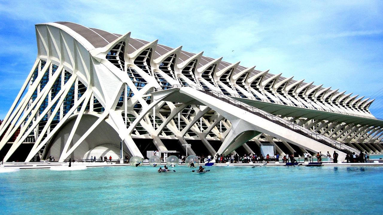 imposant gebouw in Valencia